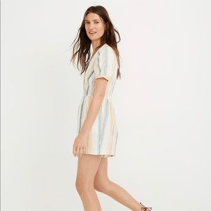 Madewell Linen Romper Size 8 NWT